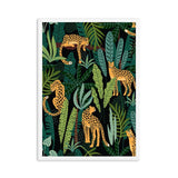 Poster Léopards dans la jungle - 21x30cm