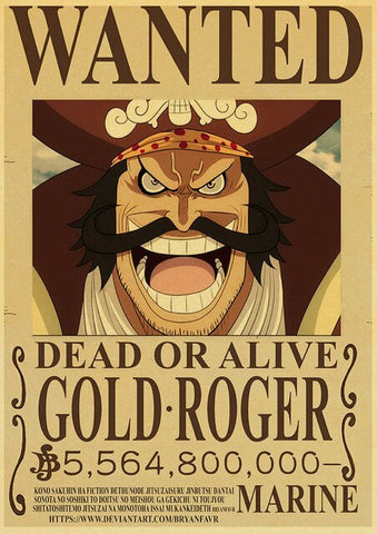 Poster One Piece Gold Roger Dead Or Alive