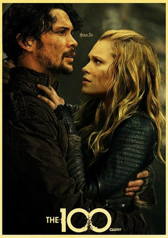 Poster The 100 Bellamy & Clarke - 30X21cm