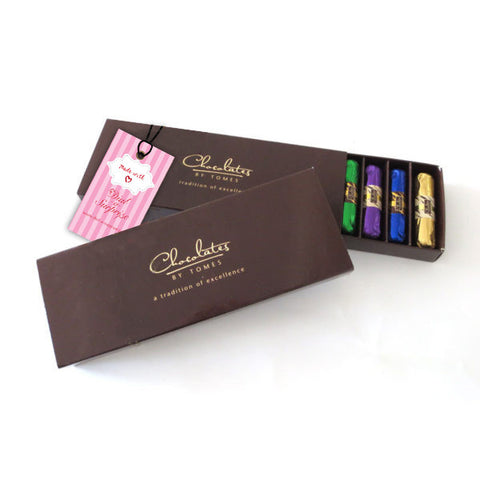 10 Belgian Chocolate Fingers (Variety of Flavors) in a Gift Box