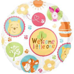 Winnie the Pooh Helium Foil Balloon - Welcome little one!