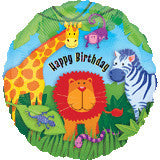Jungle Animals Happy Birthday Foil Balloon