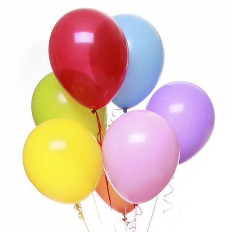 Plain Colorful Latex Helium Balloons (Only as an addition to a gift.)