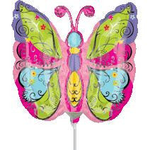 Butterfly Foil Stick Balloon