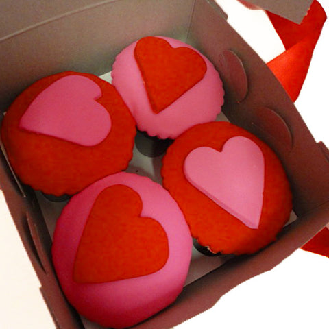 'I love you' Cupcakes in a Gift Box