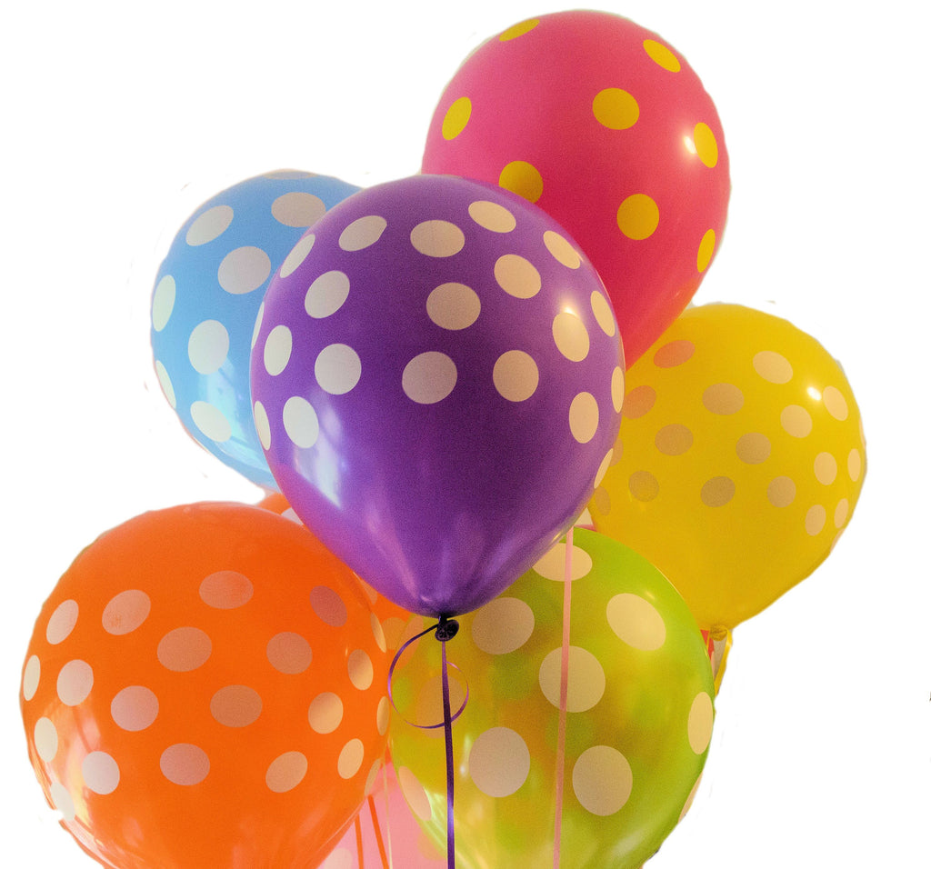 Polka Dot Helium Latex Balloons