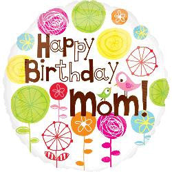 happy birthday mom helium foil balloons dial a surprize