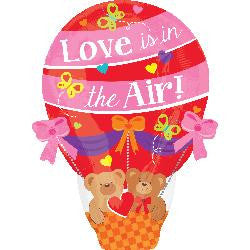 Supersized 'Love is in the AIR' Helium Balloon (Inflated size 40 x 55 cm)