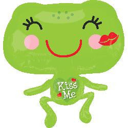 Kiss Me Froggie Helium Balloon (53 x 55cm) - Toadally Kissable!!