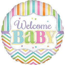New Welcome Baby - Helium Foil Balloons
