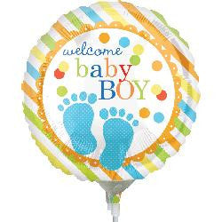 Welcome BABY Boy! Foil balloon on a Stick!