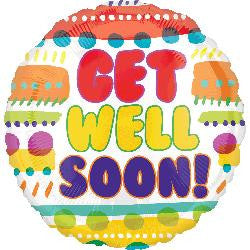 'Get Well Soon' Happy Helium Balloon