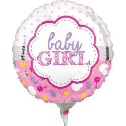 BABY Girl! Foil balloon on a Stick!