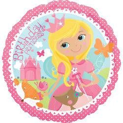 Woodland Princess Happy Birthday Foil Balloon