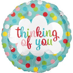 Thinking of you! Helium Foil Balloon