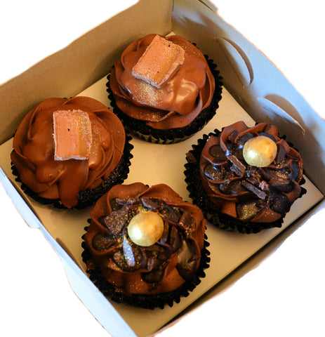 4 Decadent Cupcakes in a Gift Box