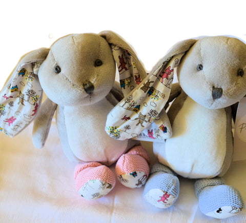 Delightful Pink or Blue Snuggle Bunny (Baby favourite!)
