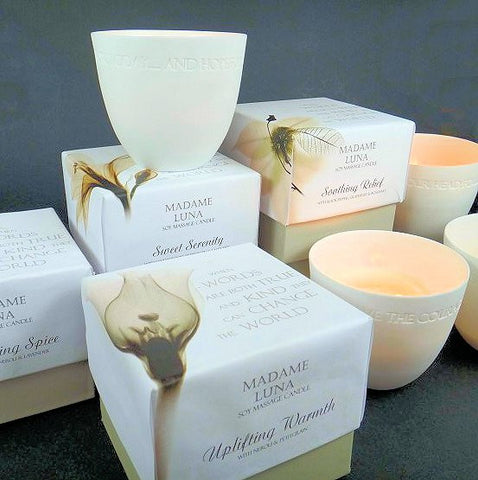 Porcelain Soy Massage Candle - 'Sweet Serenity'