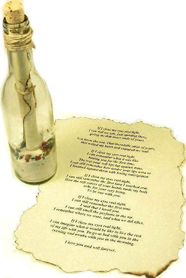 Message in a Bottle.... from me to you across the sea
