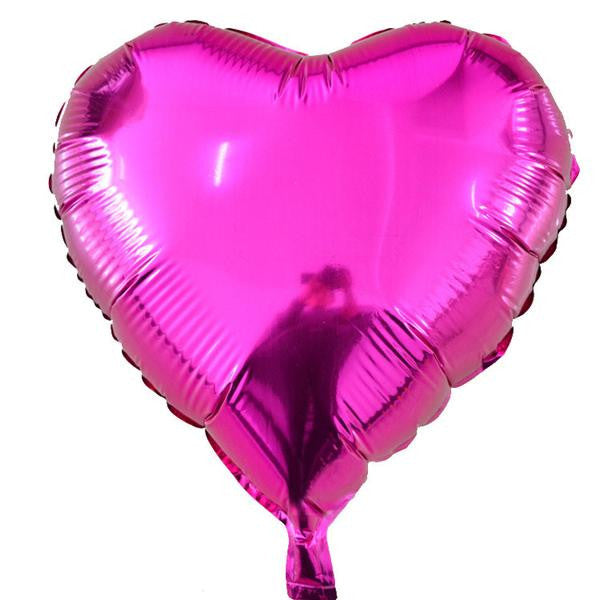 PINK Heart Shaped Helium Foil Balloons