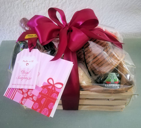 Cheese And Wine Hamper With Keepsake Knife Button Optional