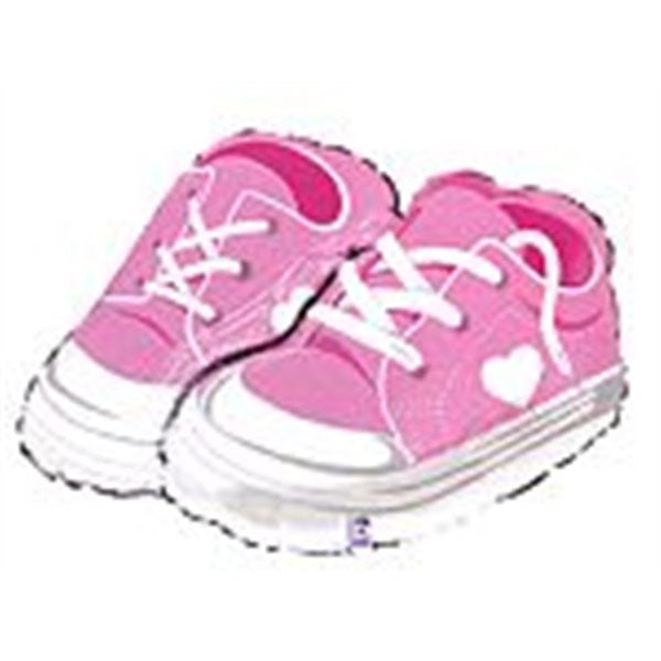 Supersized Girl Sneakers Balloon for New Baby Girl