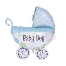 Supersized Pram Balloon for New Baby Boy
