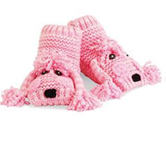 Pink Poodle Socks/Slippers (with non skid rubber soles)!