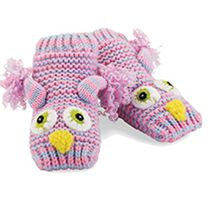 Knitted OWL Socks/Slippers (with non skid rubber soles)!