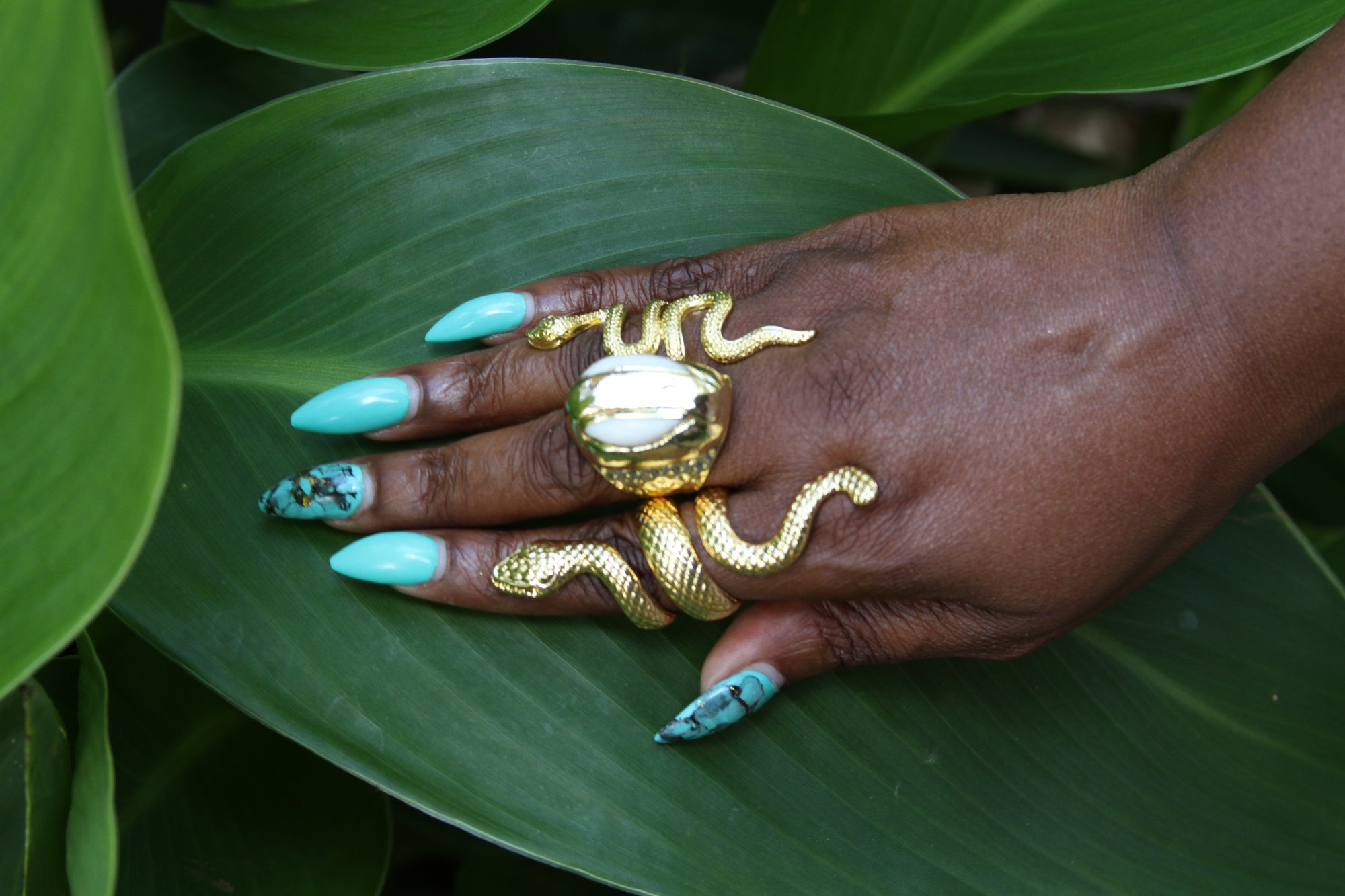 DAMBALLAH SERPENT RING (ADJUSTABLE)