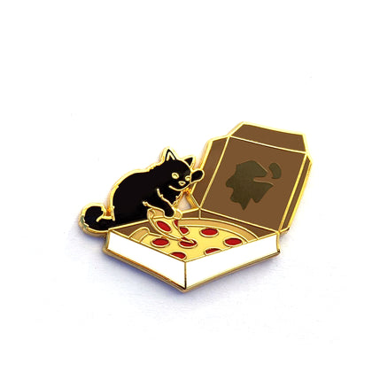 Pizza Cat - Hard Enamel Pin