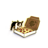 Pizza Dog - Boston Terrier - Hard Enamel Pin