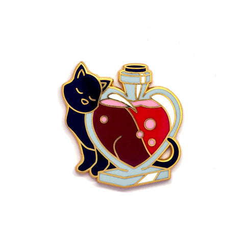 Cat with Love Potion - Hard Enamel Pin