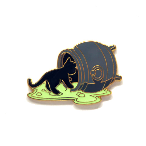 Spilled Cauldron Cat - Hard Enamel Pin