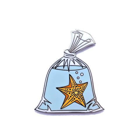 Starfish in a Bag - Hard Enamel Pin