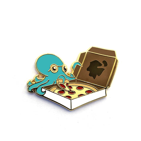 Pizza Octopus - Hard Enamel Pin