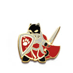 Paladin Class - RPG Black Cat - Hard Enamel Pin