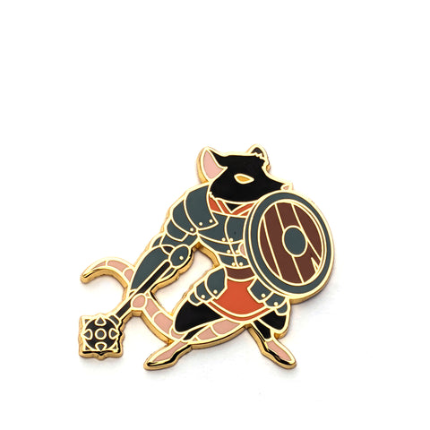 Fighter Class - RPG Rat - Hard Enamel Pin