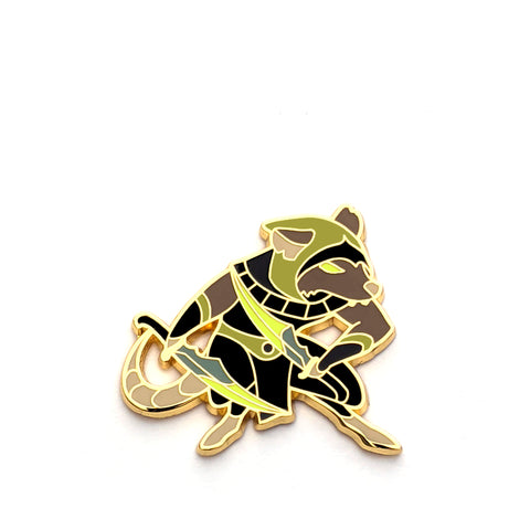 Rogue Class - RPG Rat - Hard Enamel Pin