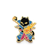 Sorcerer Class - RPG Black Cat - Hard Enamel Pin
