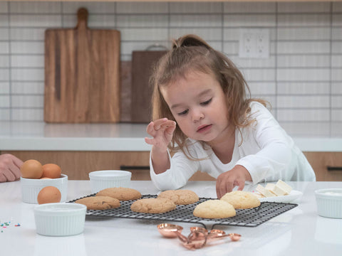 little girl who loves cookies