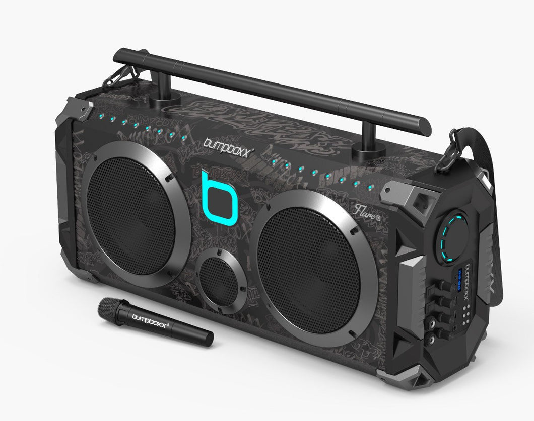 BLACK GRAFFITI Flare8 Bluetooth Boombox