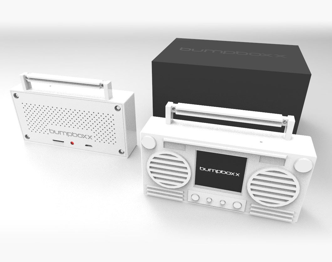WHITE Microboom Wearable Bluetooth Speaker Boombox