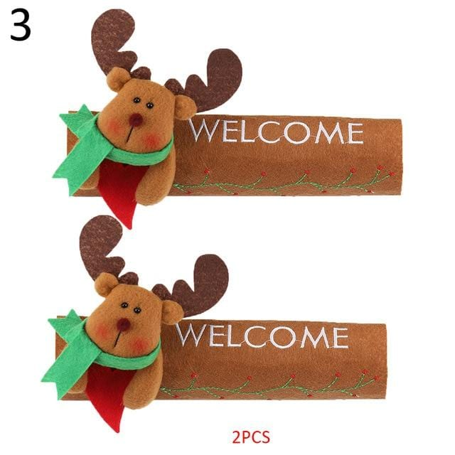Snowman Kitchen Handle Door Covers