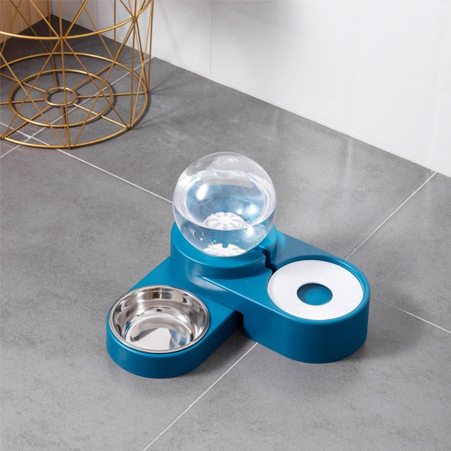 1.8L New Bubble Pet Bowls Food Automatic Feeder Water Fountain