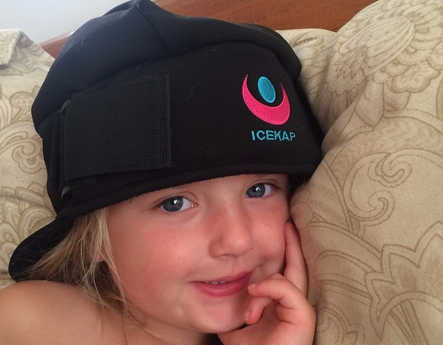 ICEKAP Delux 2.0  for kids under 10!  Cooling and warming compress cap for headaches and migraines.