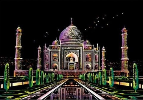 Scratch Painting Taj Mahal