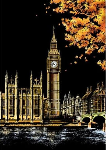 Scratch Painting Big Ben