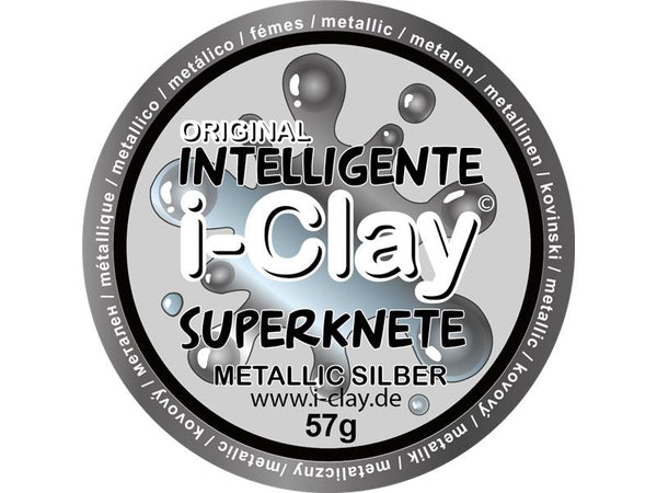 i-Clay, intelligente Superknete, Metallicfarben, Metallic Silber