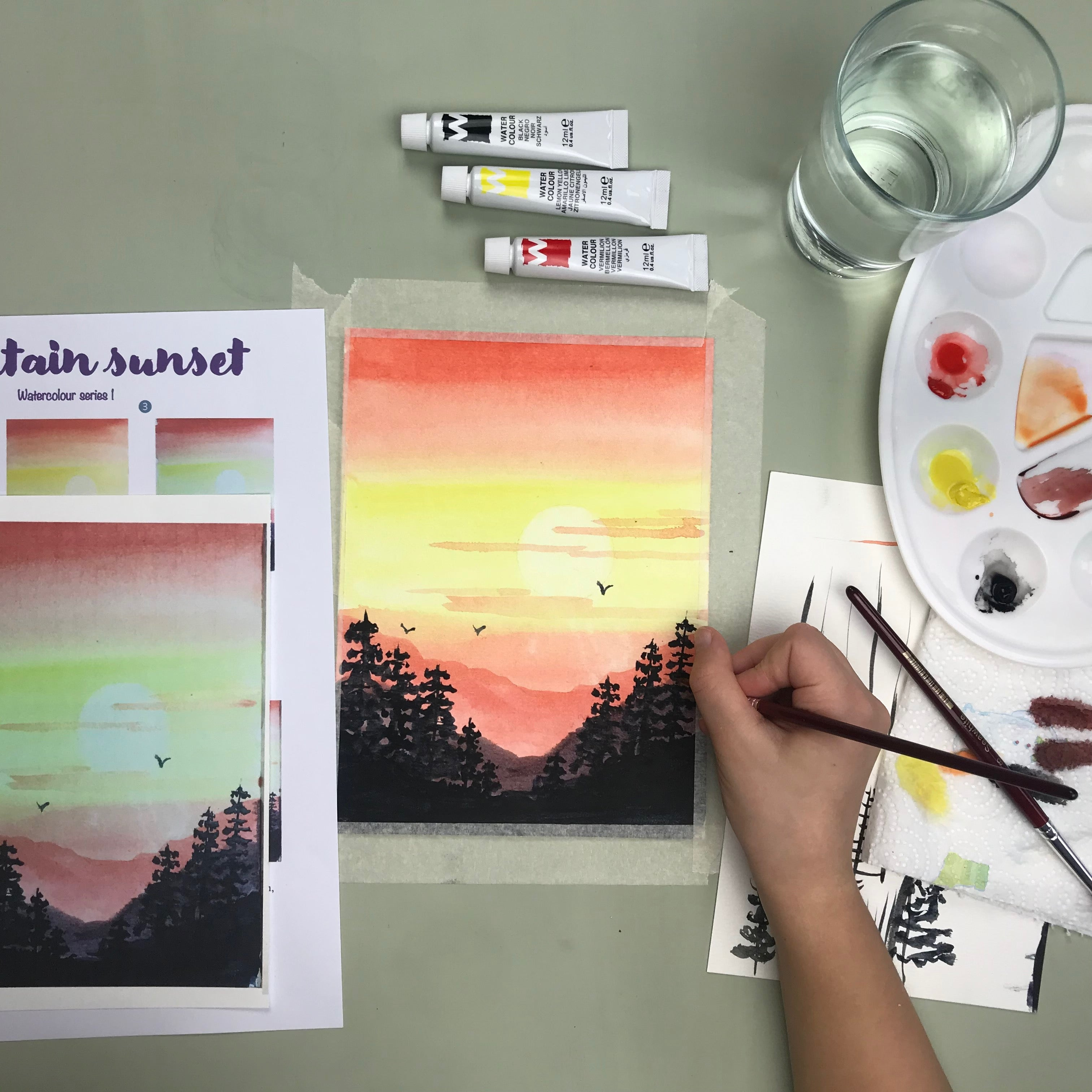 Kids watercolour activity